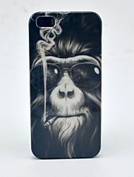 Patrón del mono de fumadores duro caso para iPhone 5/5S