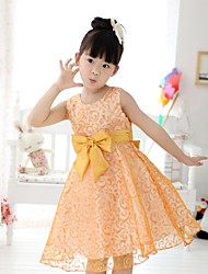 Girl's Floral Dress,Cotton / Chiffon Summer