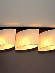 Montagem Embutida, 3 Luz, Pintura Contemporânea minimalista metal Tecido