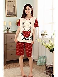 Mulheres Panda Padrão Bolinhas Pajama