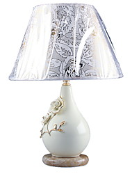 40W Pastorale Table Lamp With Floral Pattern