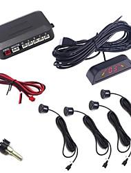 4 capteurs Parking Sensor Auto Reverse Radar de sauvegarde Système de détection Avec l'affichage du moniteur