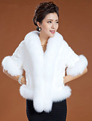 Half Sleeve Shawl Faux Fur Party/Casual Jacket(More Colors)