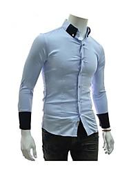 Lapela dos homens cultivar a moralidade camisa de manga longa