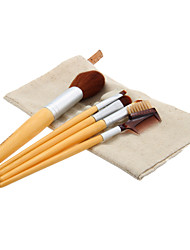 Bamboo Handle Cosmetic Brush Set with PE Bag