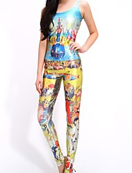 Women's Spandex/Polyester Jumpsuits , Stretchy Sexy Multi-color