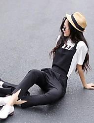 Женщины обрезанные брюки с карманами