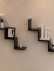 Postmodern Minimalism Solid W Shaped Wall Mounted Storage Shelf