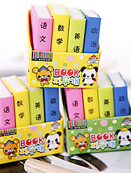 Book Shaped Eraser(4 PCS)