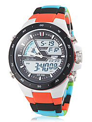 SKMEI® Unisex Analog-Digital Colorful Plastic Band Multi-Functional Sporty Wrist Watch Cool Watch Unique Watch Fashion Watch