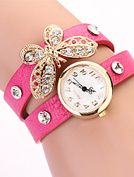 Koshi 2014 Feminina Bow Diamonade 2 Round Watch (Fuchsia)