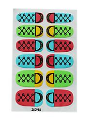 12PCS d'or service Nail Art Stickers muraux environnement enceinte