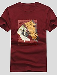 'S Men Cotton Maya Printed Kurzarm-T-Shirts