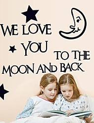 Doudouwo®  Words and Quotes The Moonlight Wall Stickers