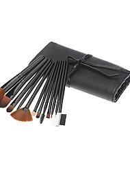 12pcs pinceau cosmétique noir Suit