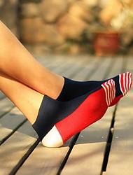 de coincidencia de colores calcetines de algodón cortas de los hombres (5 pares / paquete)