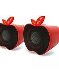 Music-M-12  High Quality Stereo USB 2.0Multimedia Speaker  (Red)