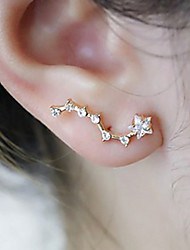 Earring Stud Earrings Jewelry Party / Daily / Casual / Sports Alloy / Rhinestone Gold / White