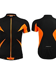 JAGGAD Cycling Tops / Jerseys Women's / Men's / Unisex Bike Breathable / Quick Dry Short Sleeve Polyester / Elastane Patchwork BlackS / M
