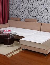 Elaine curto bordure pelúcia padrão de lótus branco sofá almofada 334025