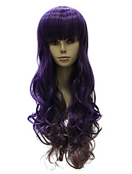 Capless Synthetic Brown Long Straight Synthetic Hair Wig