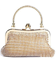 Women Event/Party Evening Bag Gold / Silver / Black
