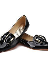 Ballet de faux brevets Tige en cuir femmes plat (plus de couleurs)