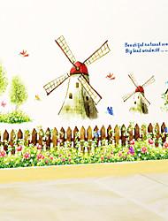 Botanical Windmill Garden Wall Stickers