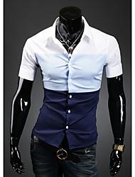 HF Мужская Основные рубашка с коротким рукавом 9072