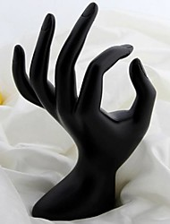 Fashion OK Hand Jewelry Display Stand For Rings (Black) (1pc)