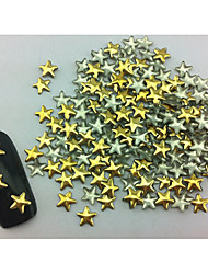 100PCS Star Punk Golden Rivet Nail Art Decorations