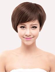 Capless Short  Wavy 100% Human Hair Wigs