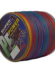500M / 550 Yards Linha Traçada PE / Dyneema Linhas de Pesca Cores Sortidas 50LB / 45LB / 60LB 0.3;0.32;0.37 mm ParaPesca de Mar / Pesca