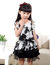 Conjuntos de Renda Cisne Negro clássico Roupas da menina