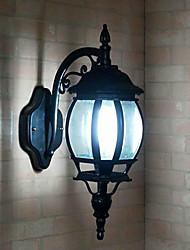 Outdoor Wall Light, 1 Luce, Pittura Classic Vetro di alluminio