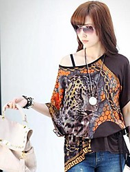 Woman's Han Edition Chains Tiger Flower Dress