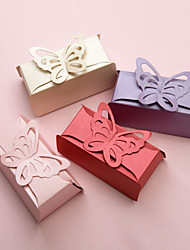 12 Piece/Set Favor Holder Pearl Paper Favor Boxes Buttefly