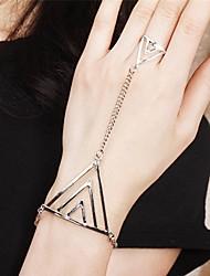 Canlyn Triângulo Cadeia Punk Silver Hand