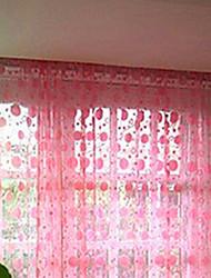 """Elegante Massiv Arten von Kreis-Muster Vorhang Line (39 """"W x 79"""" L)"""