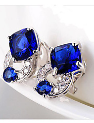 Ginasy Royal Blue Alloy Earring