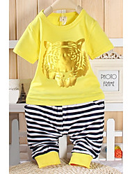 Children's Golden Tiger Head Kleding Sets