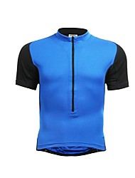 JAGGAD Cycling Tops / Jerseys Women's / Men's / Unisex Bike Breathable / Quick Dry Short Sleeve Polyester / Elastane Patchwork BlueS / M
