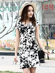 Mode en mousseline de soie robe de fleur modèle Type de nouvelle maman heureuse 4