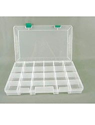 Plastic 24 Compartments Transparent  Storage Case