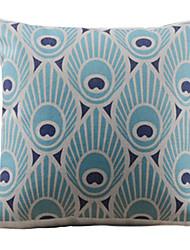 Необычные синий Изображение Декоративная крышка подушки