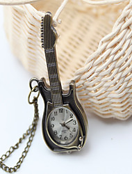 Guitarra del reloj de bolsillo de la Mujer de la vendimia de la manera (pantalla a color)