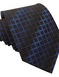 Moda Masculina Itália Estilo manta azul marinha Negócios Lazer Dot Microfibra gravata
