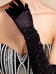 cetim de noiva de ópera dedos luvas de comprimento (mais cores disponíveis)