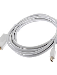 Mini DisplayPort macho a HDMI macho Cable 32AWG OD4.8mm ultrasónico para MacBook Air / Pro / Pro Retina (300cm)