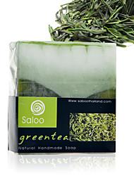 Таиланд Saboo Зеленый чай эфирное масло Мыло Отбеливание Увлажняющий Анти-акне 100г